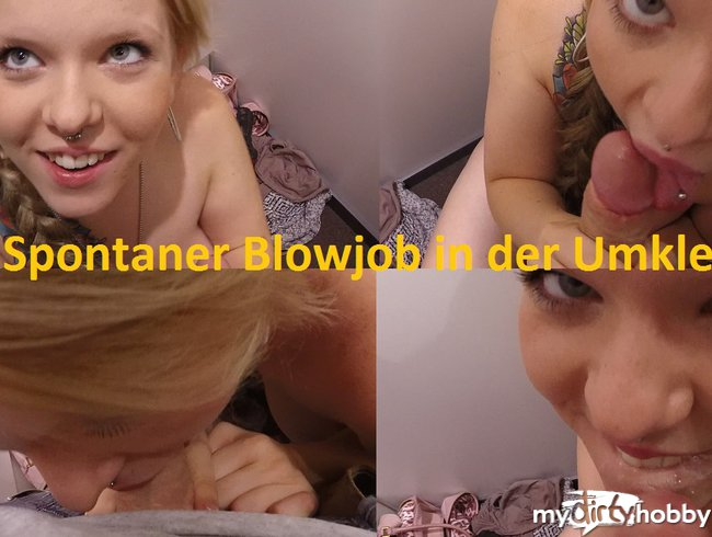Blowjob in der Umkleide